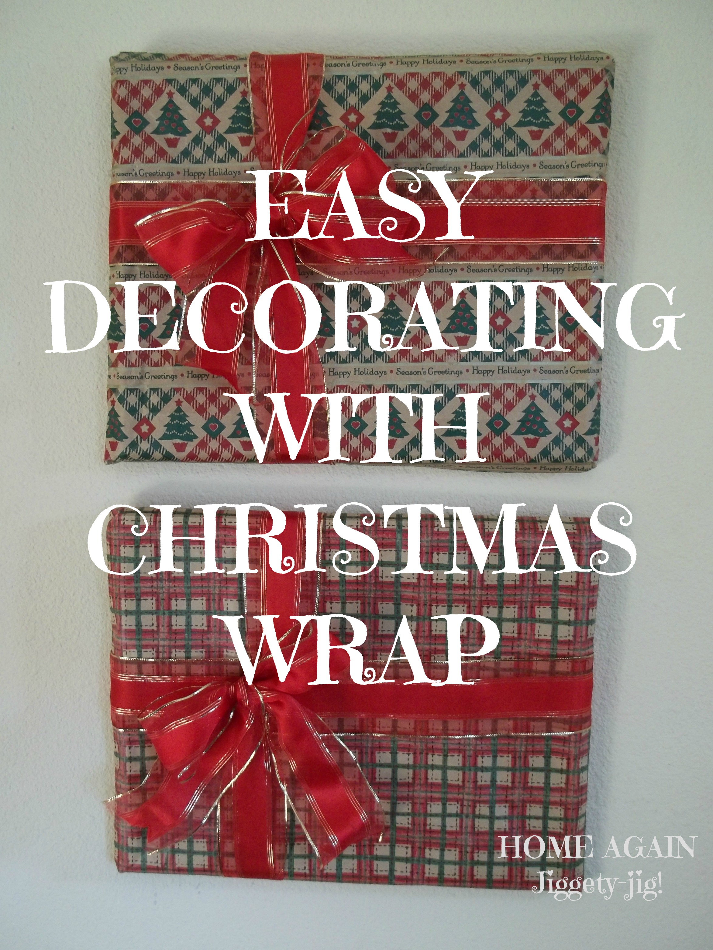 EASY DECORATING WITH WRAPPING PAPER