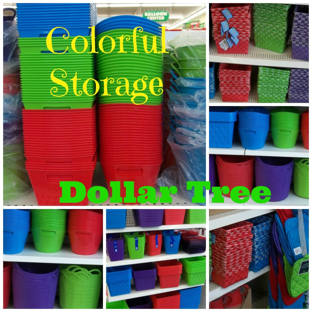 Dollar Tree colorful storage