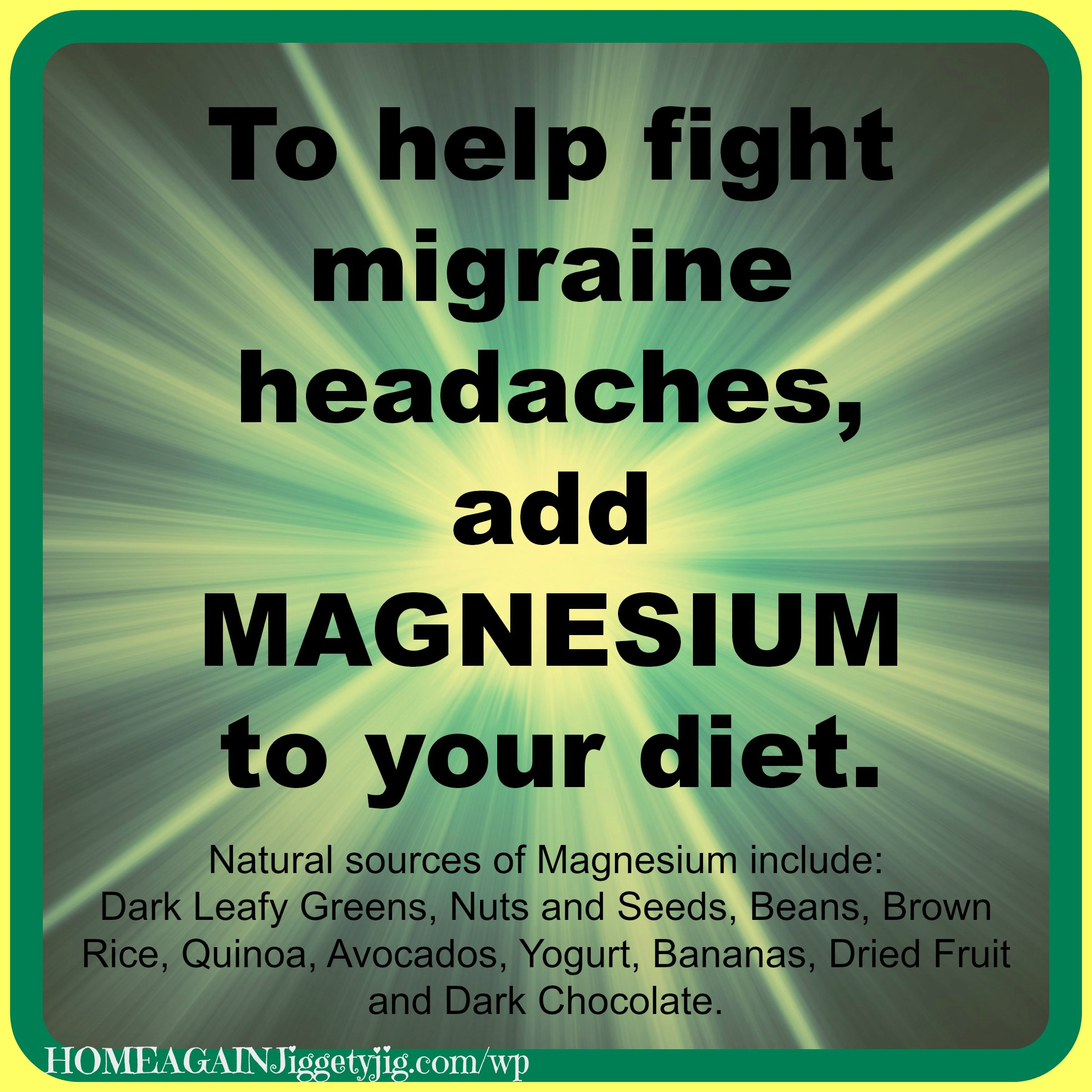 HELP STOP MIGRAINE HEADACHES – With Magnesium