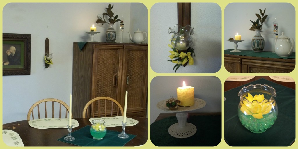Yellow Dining Room Collage