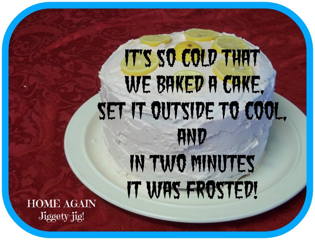 so cold cake