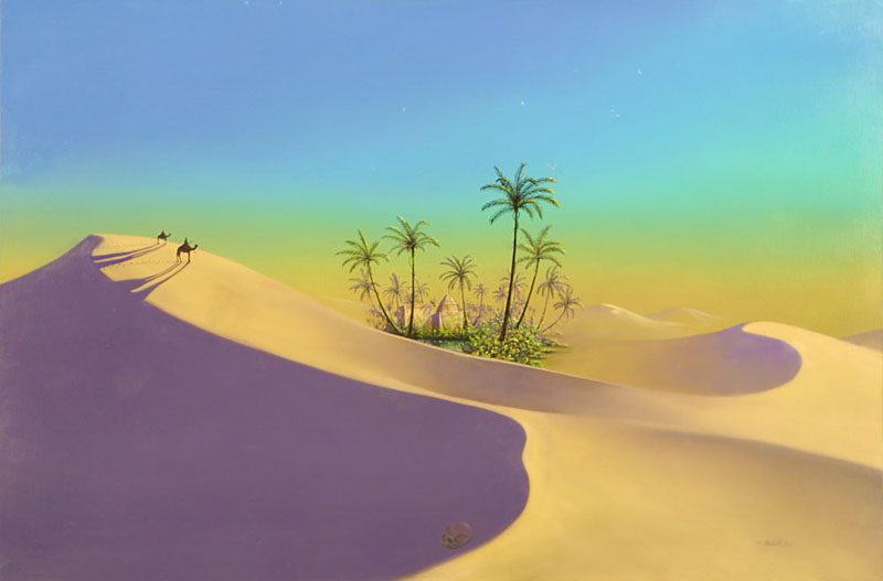 """Oasis""by Jeffrey K. Bedrick"