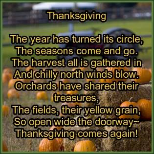 Old Thanksgiving Poem -Cindy Woodsmall
