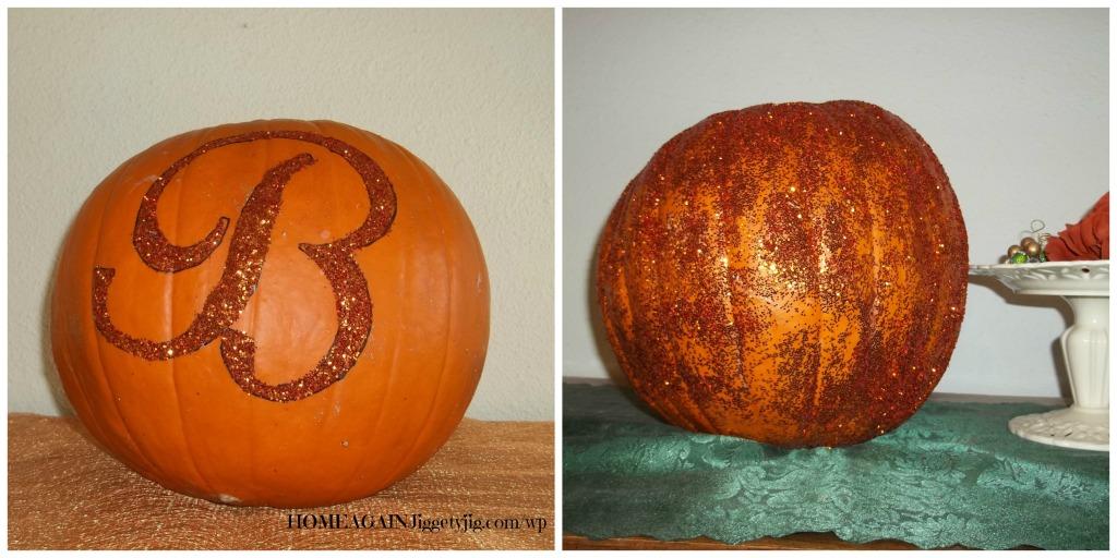 sparkley pumpkins
