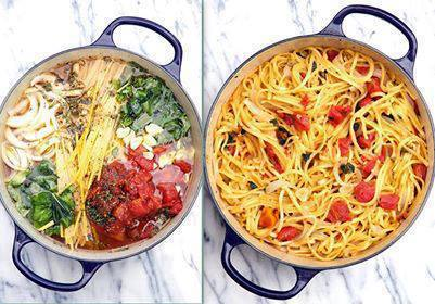 One Pot Tomato, Basil Pasta