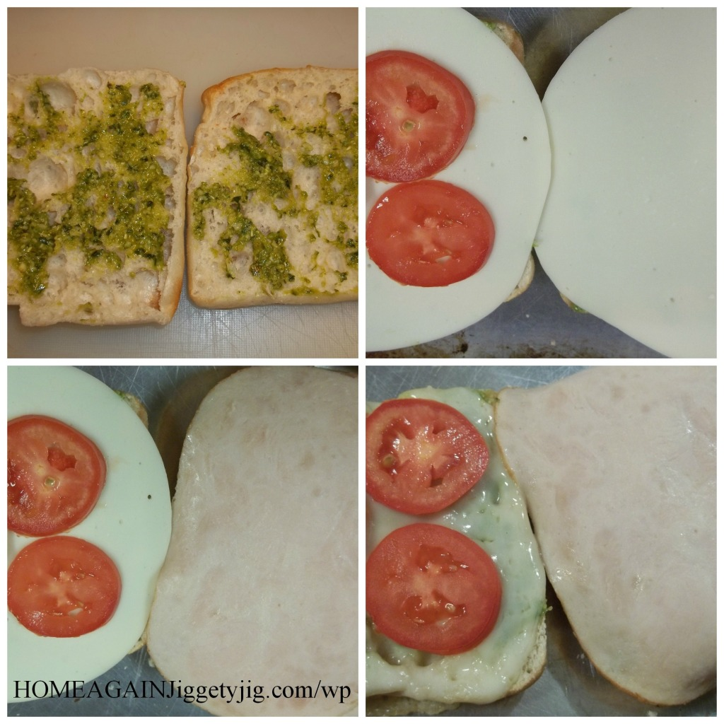 Steps to make a Hot Turkey Provolone Sandwich