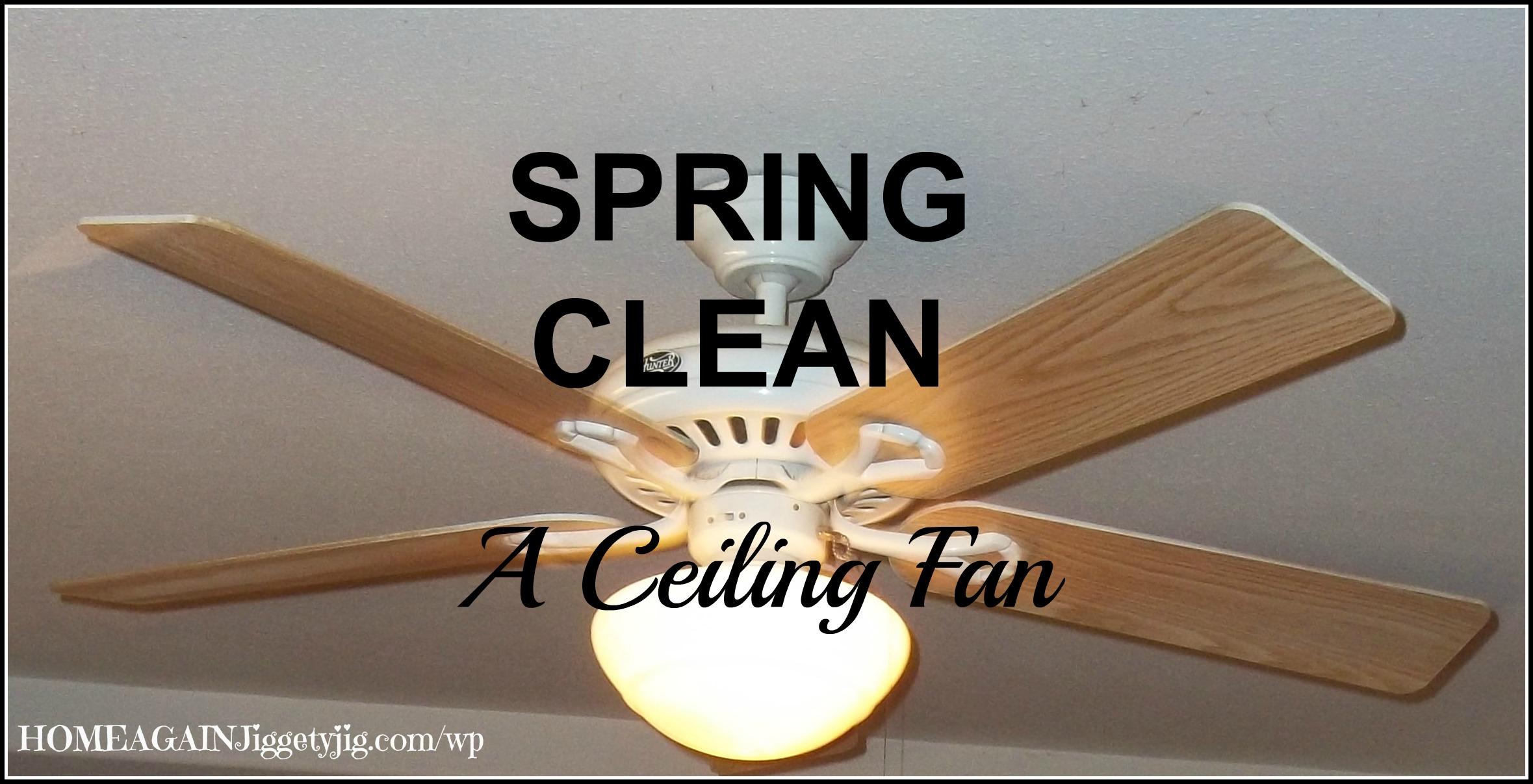 Spring Clean Ceiling Fan