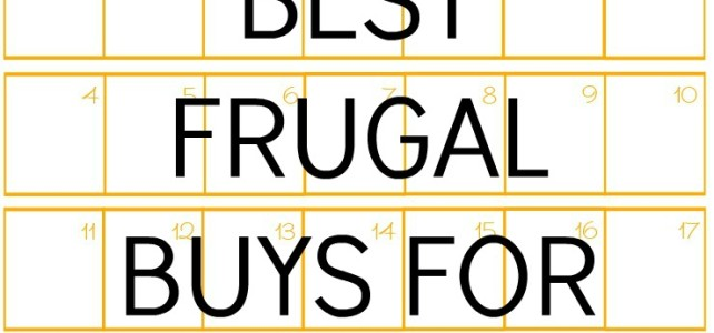 BEST FRUGAL BUYS FOR OCTOBER