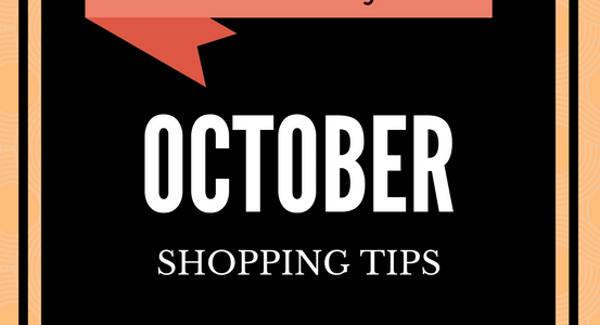 FRUGAL SHOPPING TIPS FOR OCTOBER