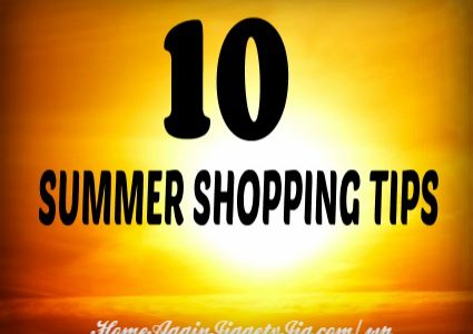 10 SUMMER SHOPPING TIPS – how to save on just about everything