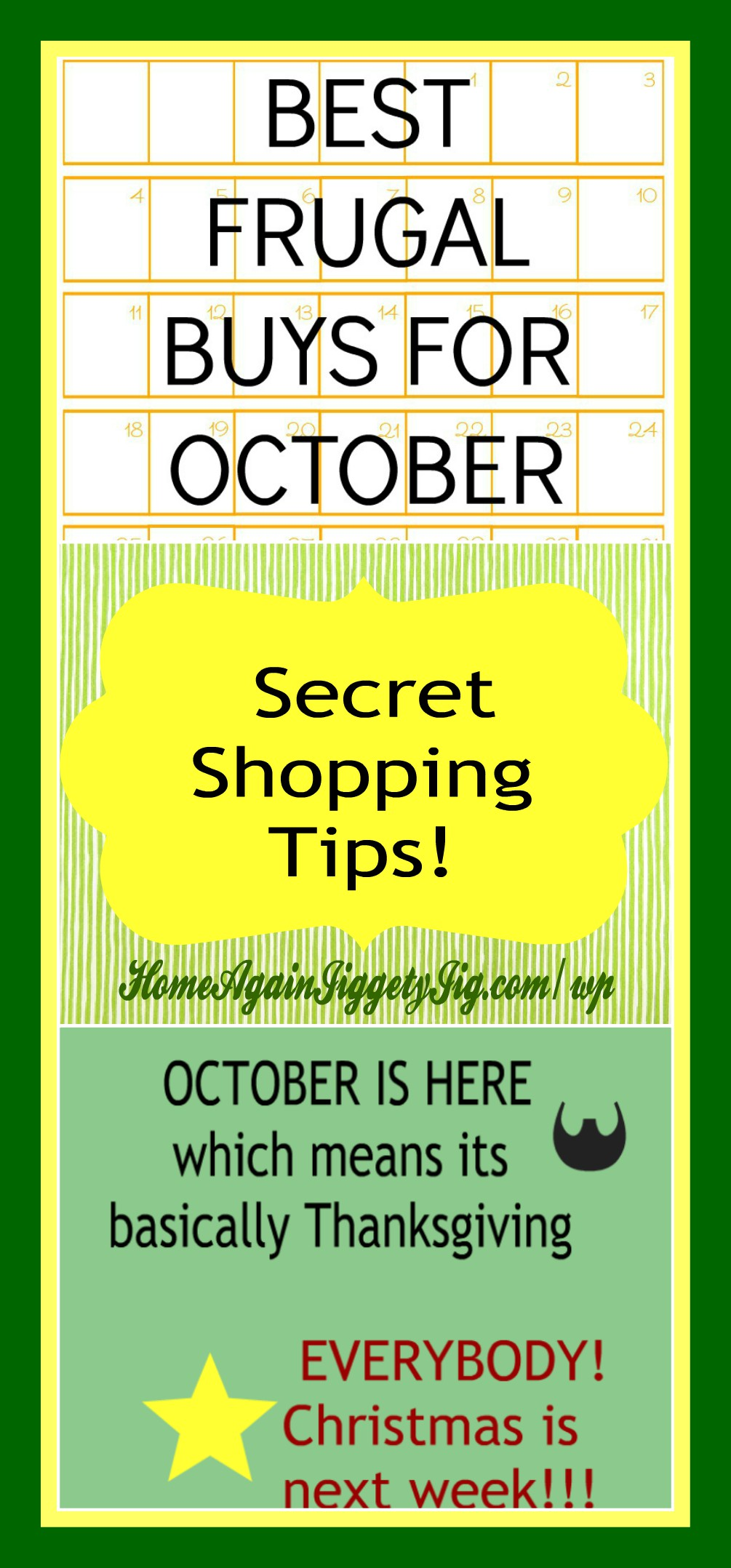 Secret shopping tips for october home again jiggety jig for What is the best month to buy a house